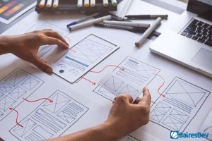 Developer working on outsource UX design