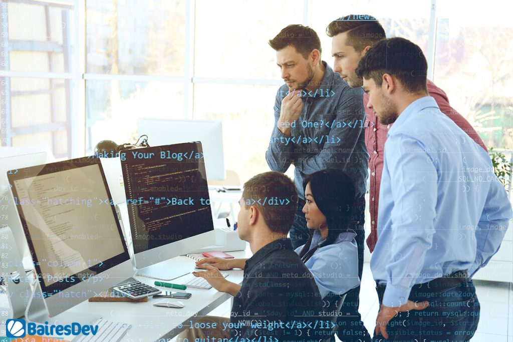 IT Outsourcing team working on Clean Architecture and Strategic Outsourcing